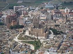 Aerial view of Villena
