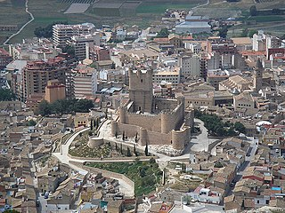 Villena City in Valencian Community, Spain