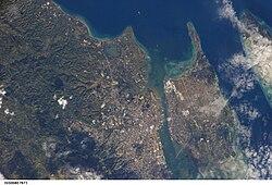 Satellite view of parts of Metro Cebu