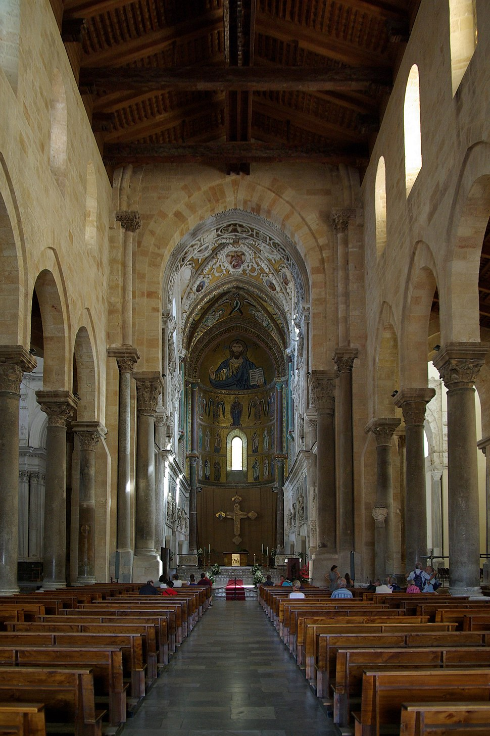 Cefalu Cathedral interior BW 2012-10-11 12-07-53
