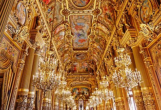 Napoleon III style - Ceiling of the Grand Salon of the Opéra Garnier (1862-75)