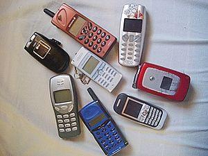 Mobiltelefoner.