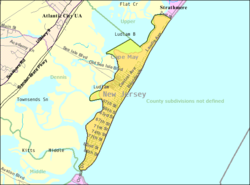 Census Bureau map of Sea Isle City, New Jersey