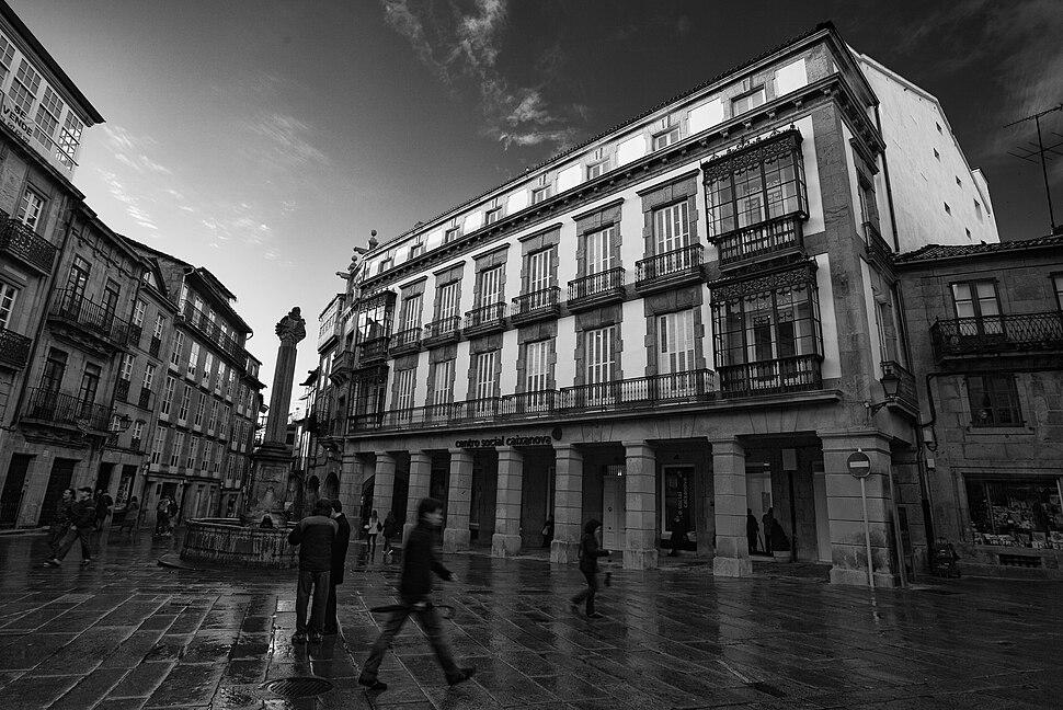 Cervantes. Praza do Pan (Santiago de Compostela)