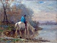 Charles Jacque Émile Paysage d'hiver au cheval.jpg