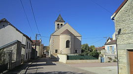 The church in Charrey-sur-Seine