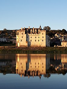 Photograph showing the Château de Montsoreau and the Loire river