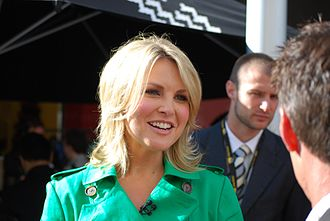 Georgie Gardner - Georgie Gardner, chats with viewers at Bourke Street Mall