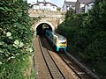 Chester bound train approaching Conwy Station - geograph.org.uk - 1472582.jpg
