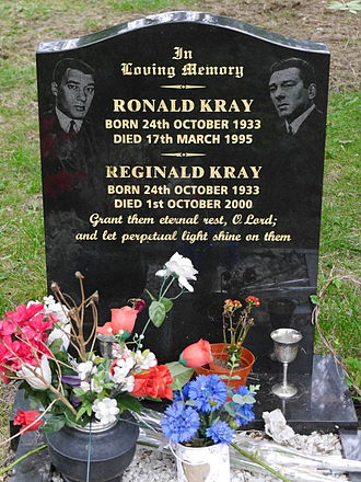 Kray twins - Funerary monument, Chingford Mount Cemetery