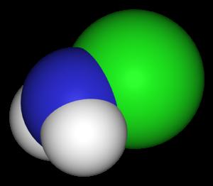 Chloramine - Image: Chloramine 3D vd W