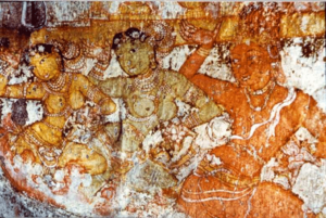 Chola Fresco of Dancing girls. Brihadisvara Temple c. 1100 C.E.
