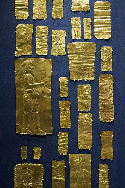 File:Chopped gold pieces from the Oxus Treasure by Nickmard Khoey.jpg