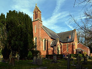 Grade II* listed buildings in Hart - Image: Christ Church, Church Crookham