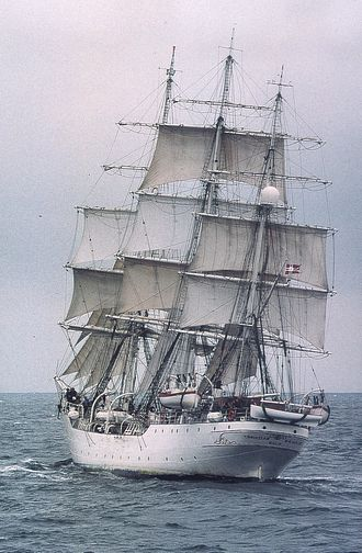 Full-rigged ship - Full-rigged sailing ship ''Christian Radich''