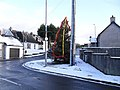 Christmas tree and snow, Drumbo - geograph.org.uk - 1627370.jpg