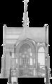 Christuskirche Hamburg-Eimsbüttel Schnittzeichnung Langhaus und Querschiff (Deutsche Bauzeitung 1883) cropped.png