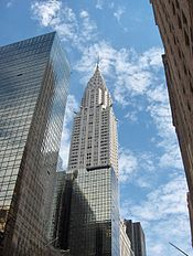 The Chrysler Building. Tallest building in the city from 1930 - 1931 4th Tallest 1973 - 2001 today now 2nd.