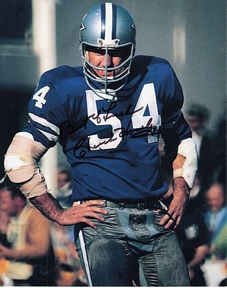 Chuck Howley - Signed photo of Howley with the Cowboys