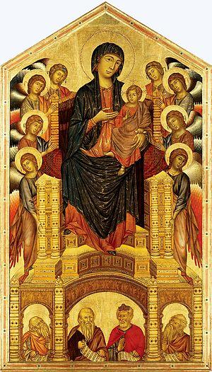 Santa Trinita Maestà - Image: Cimabue Trinita Madonna