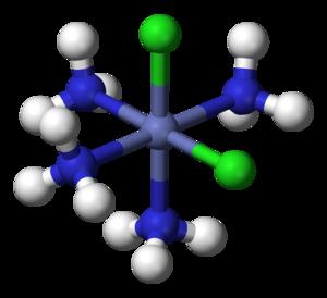 Alfred Werner - Image: Cis dichlorotetraamminec obalt(III)