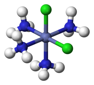 Descriptor (Chemistry) - Image: Cis dichlorotetraamminec obalt(III)