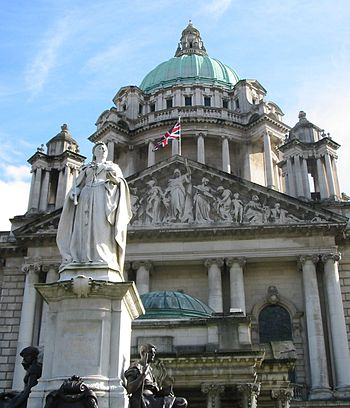 City Hall, Belfast, with statue of Queen Victoria