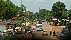 Kakata - Image: City of Kakata, photograph of main road near BWI, May 2012