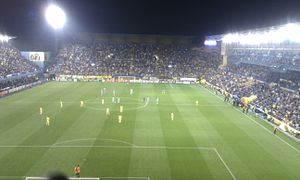 Manchester City F.C. in European football - 2011–12 match between Villarreal and Manchester City.