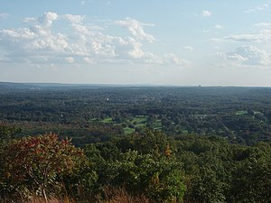 Clarkstown, New York - View of the Town of Clarkstown from High Tor Mountain.