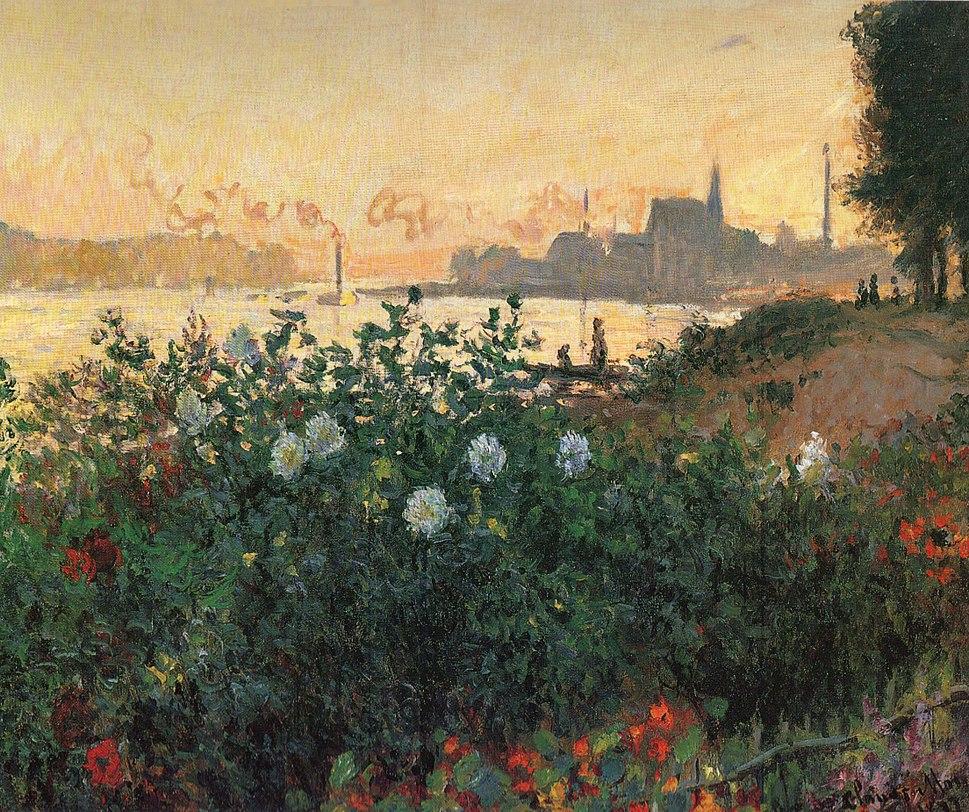 Claude Monet - Flowered Riverbank, Argenteuil