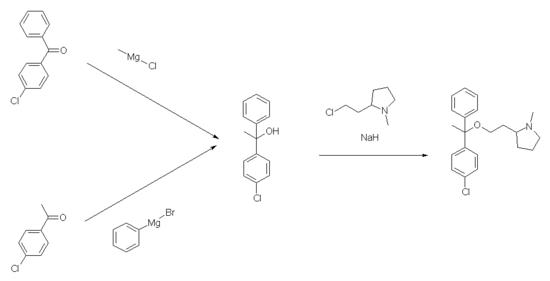 Synthese von Clemastin
