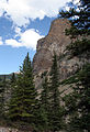 Cliff near Lake Moraine Banff (244840977).jpg