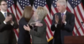 Clinton after delivering her concession speech 02.png