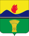 Coat of arms of Zhirnovsky district 2007 01 (official).png