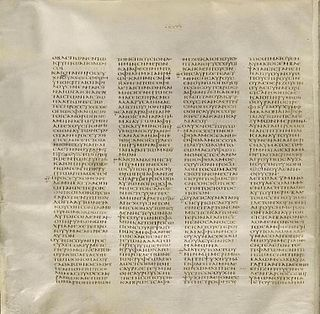 Great uncial codices Four ancient, handwritten copies of the Bible in Greek