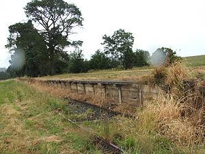 Coldstream railway station, Melbourne - Remains of an old platform at Coldstream