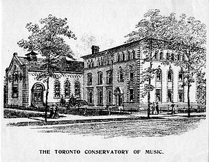 The Royal Conservatory of Music - The Toronto Conservatory of Music at College Street and University Avenue, c. 1897