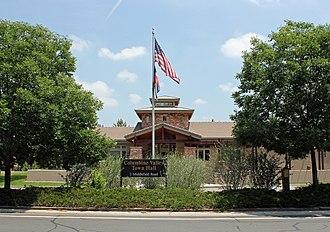 Columbine Valley, Colorado - The Columbine Valley Town Hall.