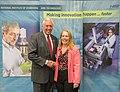 Congressman Hoyer and NIST Scientist Lisa Fronczek (9618079512).jpg