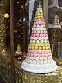 Conical pyramid of macarons, September 2009.jpg