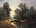 Constant Troyon - Herd and Herdsmen at the Watering Place in the Wood.jpg