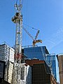 Construction tower cranes, Little Britain, City of London England 01.jpg