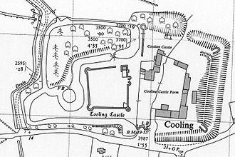 Cooling Castle - Ordnance Survey map of Cooling Castle