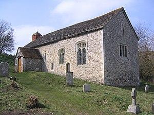 Horsham Stone - Image: Coombes church