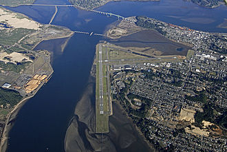 Southwest Oregon Regional Airport - Aerial of Coos Bay/North Bend