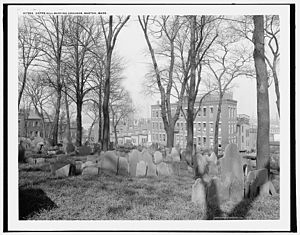 History of Boston - Copp's Hill Burying Ground, founded 1659