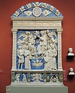 Coronation of Virgin by Andrea della Robbia 01 replica in Pushkin museum by shakko.jpg