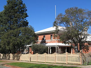 """Corowa Courthouse """"Heritage place or item located at 8 Church Street Corowa New South Wales, Australia"""""""