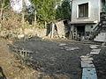 Cottage near Berounka – 2002 – watter is down – garage entry.jpg